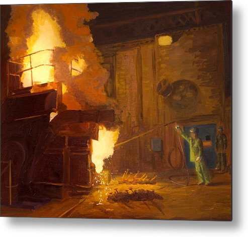 Melter Metal Print featuring the painting The Melter by Martha Ressler