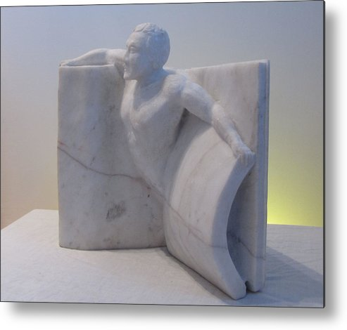 Human Figure Metal Print featuring the sculpture The Power Of Words by Paul Shier