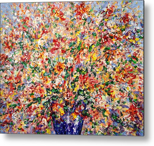 Flowers Metal Print featuring the painting The Sunlight Flowers by Leonard Holland