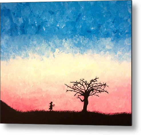 Child Metal Print featuring the painting The Tree by Jennifer Hernandez
