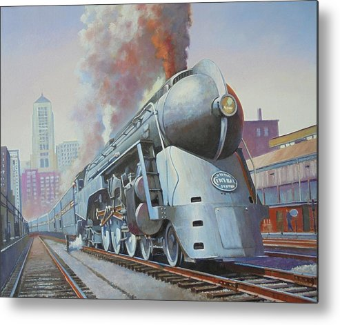 Nyc Metal Print featuring the painting Twenthieth Century Limited by Mike Jeffries
