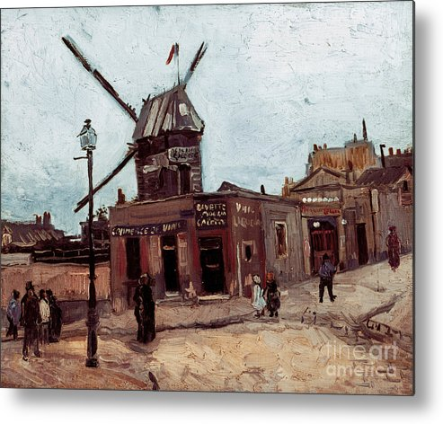 1886 Metal Print featuring the photograph Van Gogh: La Moulin, 1886 by Granger