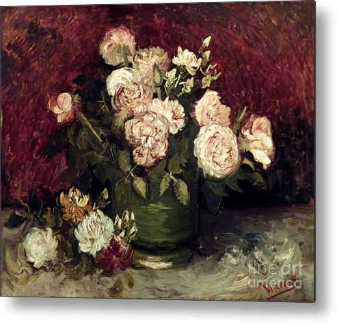 1886 Metal Print featuring the photograph Van Gogh: Roses, 1886 by Granger
