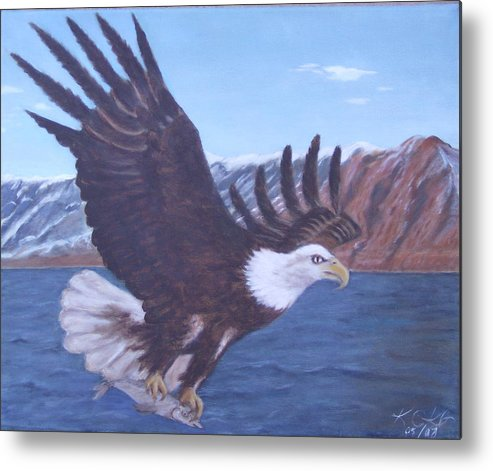 Eagle Metal Print featuring the painting Walker Lake by KC Knight