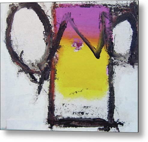 Abstract Paintings Metal Print featuring the painting Watch And Listen by Cliff Spohn