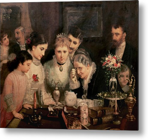 Wedding Presents Metal Print featuring the painting Wedding Presents by JW Champney