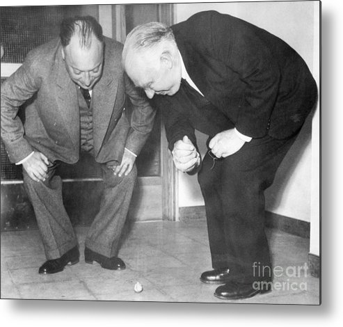 1900s Metal Print featuring the photograph Wolfgang Pauli And Niels Bohr by Margrethe Bohr Collection and AIP and Photo Researchers
