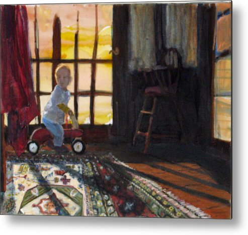 Oriental Rug Metal Print featuring the painting Zeb by Alicia Kroll