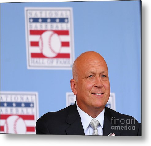 People Metal Print featuring the photograph Baseball Hall Of Fame Induction Ceremony by Elsa