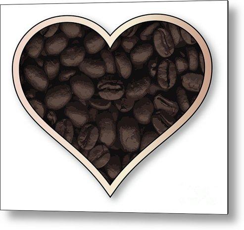 Love Metal Print featuring the digital art Love Coffee by Bigalbaloo Stock