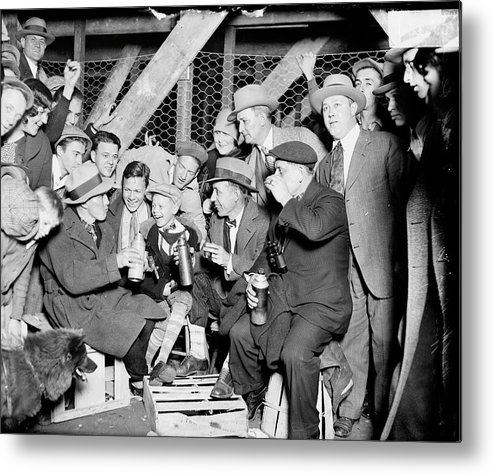 Child Metal Print featuring the photograph People Waiting To Enter 1929 World by Chicago History Museum