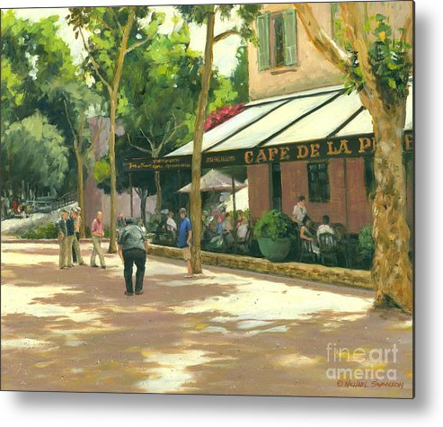 Boule Metal Print featuring the painting Boule Ball by Michael Swanson