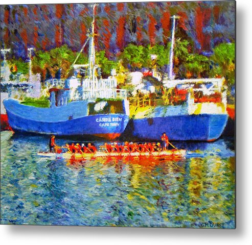 Boat Metal Print featuring the painting Carpe Diem by Michael Durst