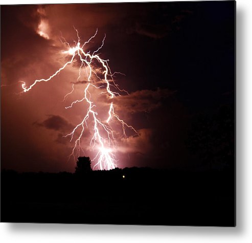 Lightning Metal Print featuring the photograph Cloud Jump by Cory Bucher
