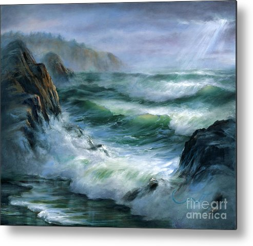 Transparent Wave Metal Print featuring the painting Concerto by Sharon Abbott-Furze