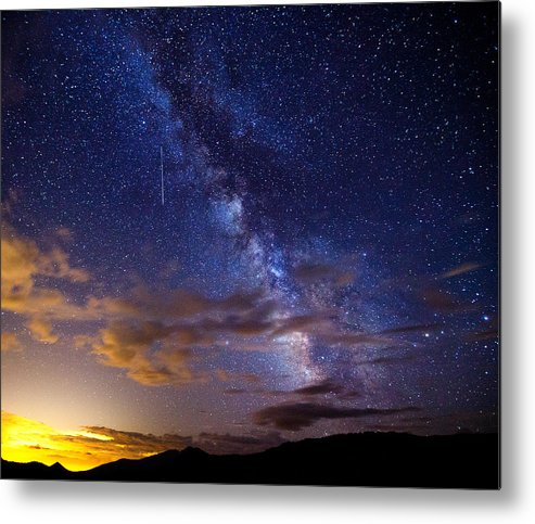 Milky Way Metal Print featuring the photograph Cosmic Traveler by Darren White