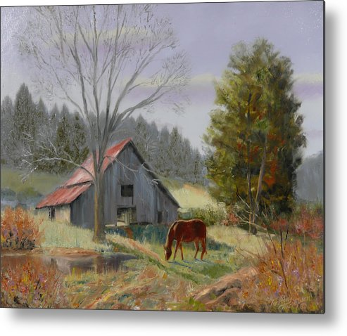 Landscape Metal Print featuring the painting Dream Acres by Tommy Thompson