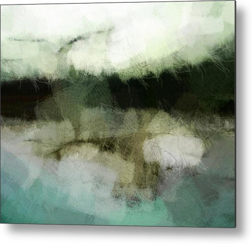 Landscape Metal Print featuring the digital art Early Morning Flight by Gun Legler