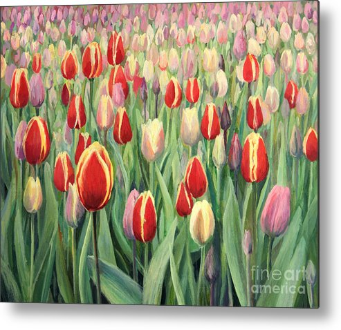 Art Metal Print featuring the painting From The Nature's Palette by Kiril Stanchev