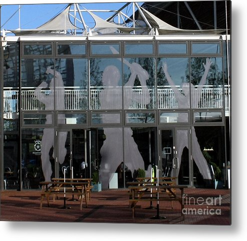Cricket Metal Print featuring the photograph Hampshire County Cricket Glass Pavilion by Terri Waters