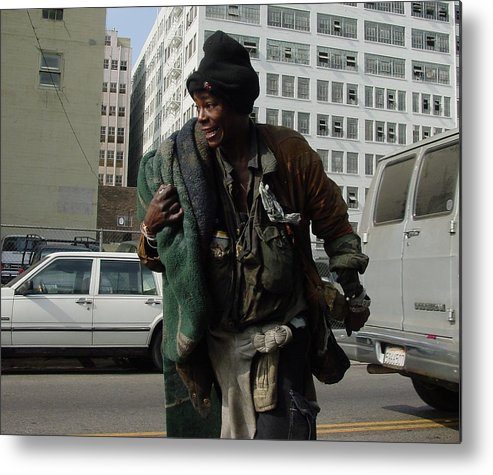 Homeless Metal Print featuring the photograph Living In The Streets by Lorenzo Williams