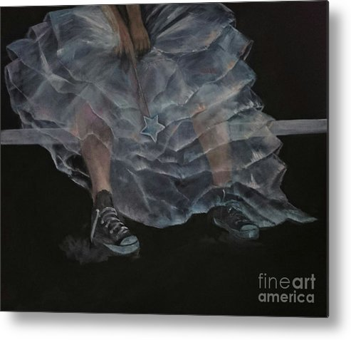 Oilpainting Metal Print featuring the painting Not My Party by Sonja Roosenhart