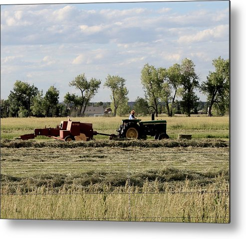 Farm Metal Print featuring the photograph Old Farm Hand by Trent Mallett