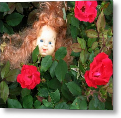 Rose Metal Print featuring the photograph Rosebud Joy by Bonnie Clark Weatherford
