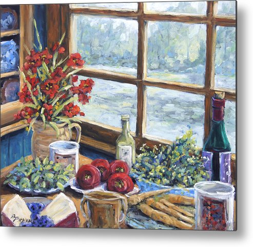 Still Life Metal Print featuring the painting Spice Table By Prankearts by Richard T Pranke
