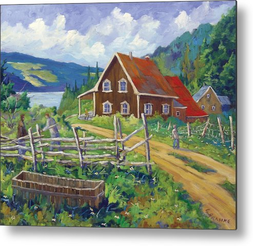 Art Metal Print featuring the painting Ste-rose Du Nord by Richard T Pranke