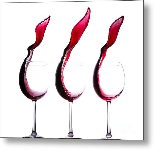 The Physics Of Wine Metal Print featuring the photograph The Physics Of Wine by Jordan Danko
