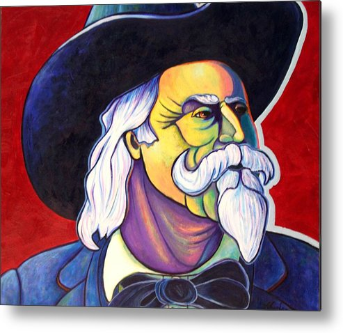 Western Hero Metal Print featuring the painting The Plainsmen - Buffalo Bill Cody by Joe Triano