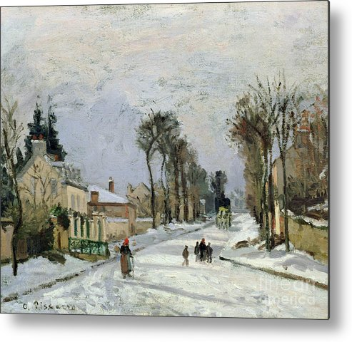 Winter Metal Print featuring the painting The Versailles Road At Louveciennes by Camille Pissarro