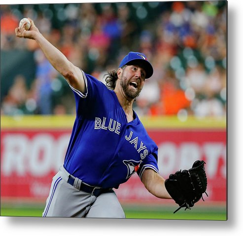 Three Quarter Length Metal Print featuring the photograph Toronto Blue Jays V Houston Astros by Bob Levey