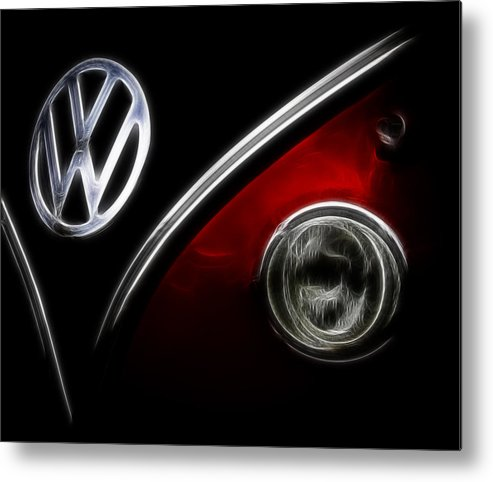 Vw Metal Print featuring the photograph Vw Micro Bus Logo by Steve McKinzie