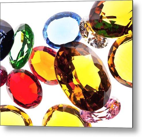 Aquamarine Metal Print featuring the photograph Colorful Gems by Setsiri Silapasuwanchai