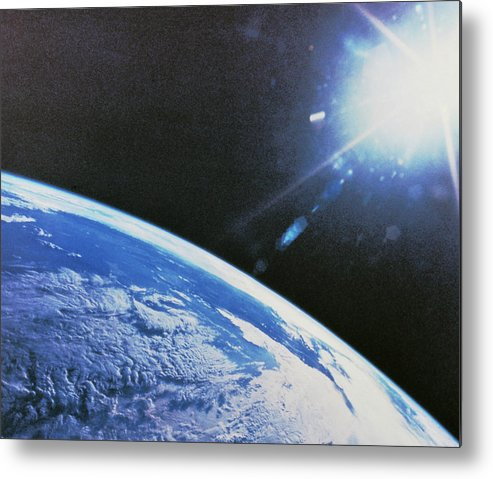 Cloud Metal Print featuring the photograph Earth From Space by Nasa