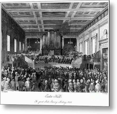 1840 Metal Print featuring the photograph Abolition Convention, 1840 by Granger
