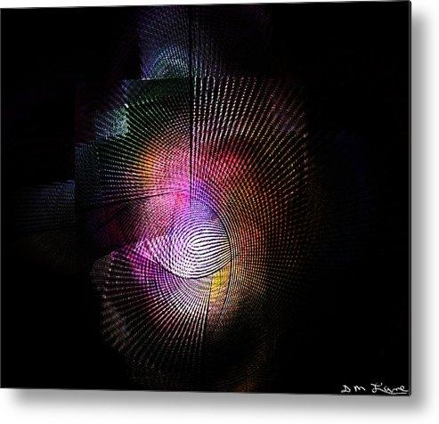 Fine Art Metal Print featuring the digital art Abstract110111b by David Lane
