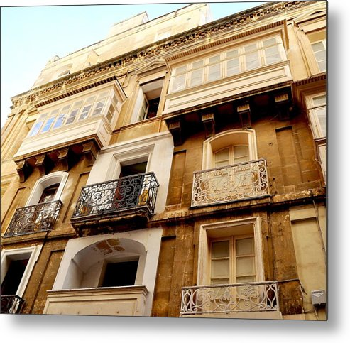 Europe Metal Print featuring the photograph Apartment In Malta by Heather Marshall