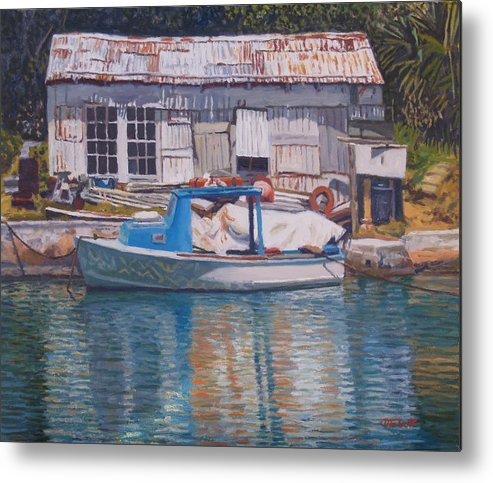 Bermuda Metal Print featuring the painting Boat And Shed St. David's by Otto Trott