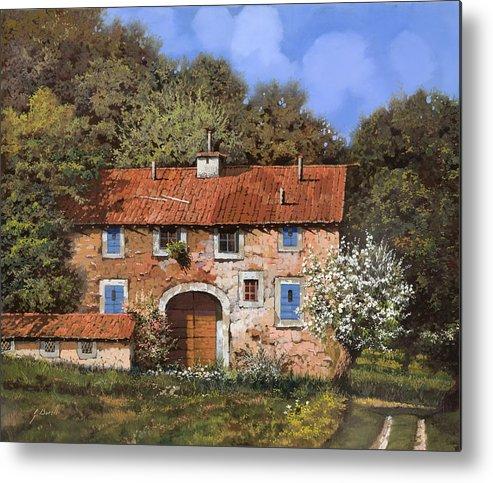 Farm Metal Print featuring the painting Casolare A Primavera by Guido Borelli