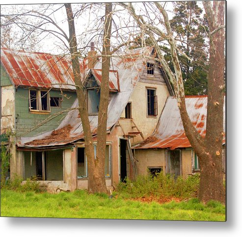 Ozarks Metal Print featuring the photograph Haunted House by Marty Koch