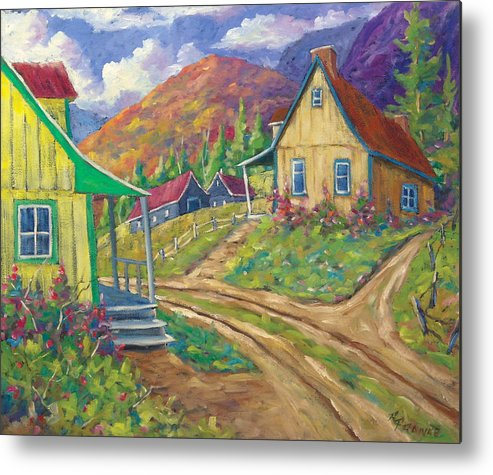 Art Metal Print featuring the painting House Of Louis by Richard T Pranke