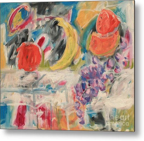 Stil Life Metal Print featuring the painting Still Life With Fruit by Michael Henderson