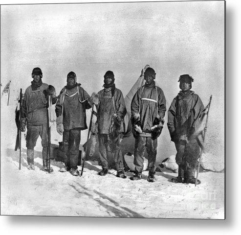 1912 Metal Print featuring the painting Terra Nova Expedition by Granger