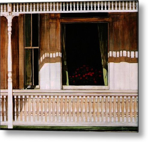 Porch Metal Print featuring the painting 1850 by Keith Gantos