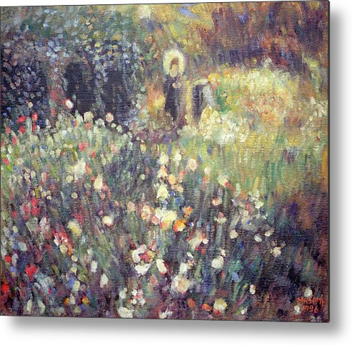 Painting Metal Print featuring the painting homage to Renoir by Masami Iida