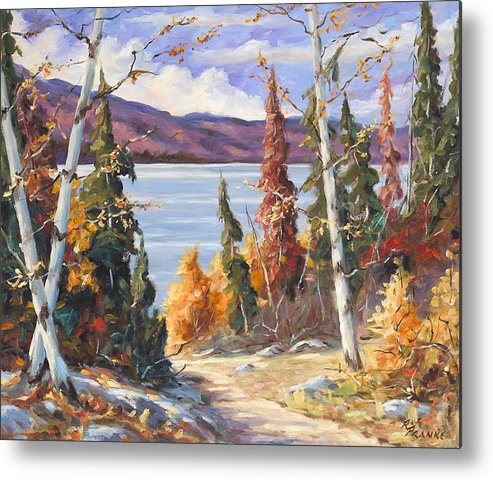 Art Metal Print featuring the painting Automn Colors by Richard T Pranke