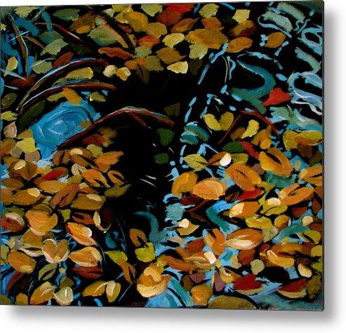 Autumn Metal Print featuring the painting Autumn by Art Nomad Sandra Hansen